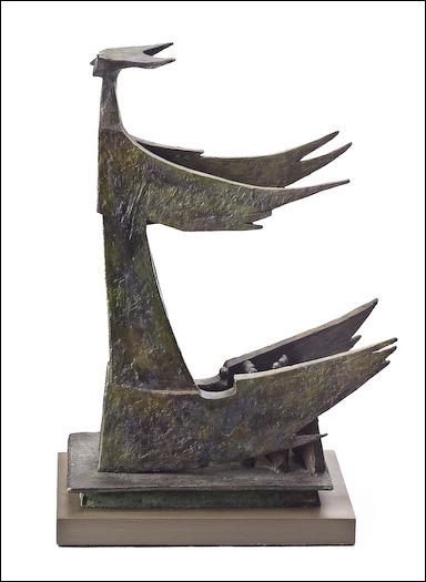 Eyekons   Supervision III - Psalm 57   Bronze Sculpture by C  Malcom