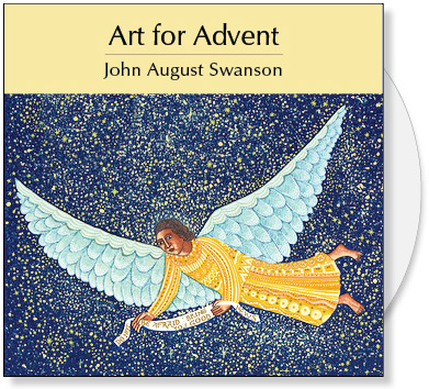Art for Advent is a CD of Christmas Images for A Thrill of Hope by John August Swanson. The CD contains 4 full images and 58 detail images of the Advent | Christmas serigraphs by John Swanson: A Visit, Nativity, Shepherds, Epiphany and Flight Into Egypt. The Christmas images illustrate the events of Advent including the Annunciation, the Birth of Jesus, Adoration of the Shepherds, Adoration of the Magi and the Escape to Egypt. The Art for Advent CD Collection by John Swanson illustrate the Christmas story and provide Advent art for bulletin covers, sermon illustrations Powerpoint images and Bible study.