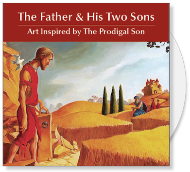 The Father and His Two Sons CD is a collection of images and writings from our book on the Parable of the Prodigal Son. The CD contains 48 images of original art inspired by the Prodigal Son along with a PDF of our book The Father and His Two Sons: The Art of Forgiveness. The CD Collection offer churches original art that illustrates the parable of the Prodigal Son and writings that provide insight into this story of faith and forgiveness. A great source of Christian art for bulletin covers, sermon illustrations Powerpoint images and Bible study.