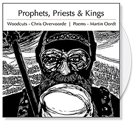 The Prophets, Priests and Kings CD Collection features 18 woodcuts by Chris Stoffel Overvoorde and 18 poems by Martin Oordt that were inspired by the Old Testament prophets, priests and kings. The Chris Overvoorde woodcuts are narrative portraits of the major characters that shaped the Old Testament. The poetry of Martin Oordt provide creative insight into the lives of these Old Testament luminaries. The CD offers churches a great of Christian art and poetry for bulletin covers, sermon illustrations and Powerpoint images and Bible study.