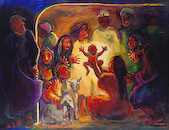 """Nativity,"" by Carol Aust, a Church Stock Image available at Eyekons Church Stock Image Bank"
