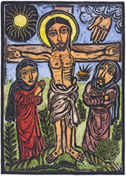 Crucifixion by Solomon Raj Lent images for Bulletin Covers, Powerpoint and Web, unique images for Church Bulletins