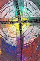 Cross 2 by Lisa Schulist image from Eyekons Church Image Bank are available for bulletin covers, powerpoint, web
