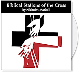 Nicholas Markells Biblical Stations of the Cross CD Collection is based on the Stations of the Cross as led by Pope John Paul II. Nicholas Markells Lenten images offer a powerfully graphic portrayal of the Biblical Stations of the Cross. The Stations are presented in biblical order and available in both black & white and color versions. Through his strong use of shape & symbol, Nicholas creates rich iconic images filled with beauty, mystery and meaning.