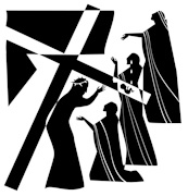 Stations of the Cross: Station 9 - Jesus Encounters the Women of Jerusalem | Line Drawing by Nicholas Markell | CD of Images for Church Powerpoint and Bulletin Covers. The images are formatted for use as powerpoint, sermon illustrations and bulletin covers. The Stations of the Cross CD Collection is available through Eyekons Church Image Bank.