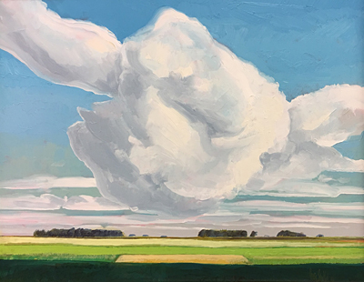 Chris Stoffel Overvoorde painting, Afternoon Clouds, for sale from Eyekons Gallery