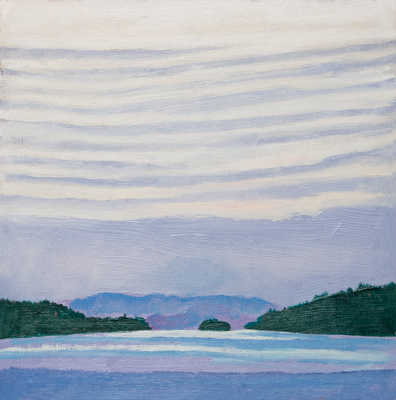 Chris Stoffel Overvoorde painting, BC Ferry 2, for sale from Eyekons Gallery