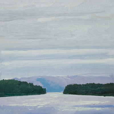 Chris Stoffel Overvoorde painting, BC Ferry 3, for sale from Eyekons Gallery