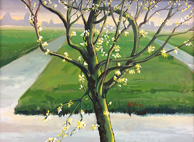 Chris Stoffel Overvoorde painting, Claras Tree, for sale from Eyekons Gallery