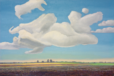 Chris Stoffel Overvoorde painting, The Hill, MichiganClouds Near Door, Michigan for sale from Eyekons Gallery