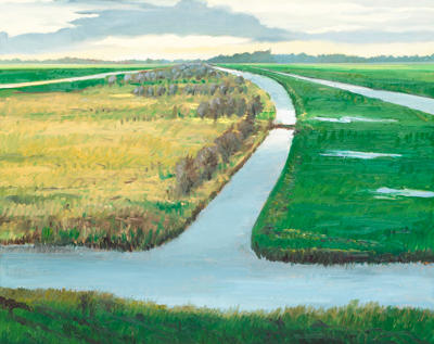 Chris Stoffel Overvoorde painting, Dutch Polder Near Schoonhoven, for sale from Eyekons Gallery
