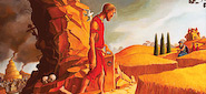 Edward Riojas' painting of The Prodigal Son is used on the cover of the book The Father and His Two Sons: The Art of Forgiveness published by Eyekons. The Father and His Two Sons presents a collection of art and writings inspired by the parable of the Prodigal Son as told by Jesus in Luke 15:11-32. Eyekons Books offers many other art books, posters and greeting cards featuring the artists of Eyekons.