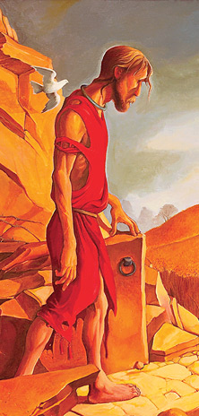 Ed Riojas' painting of The Prodigal Son is used on the cover of book The Father and His Two Sons: The Art of Forgiveness published by Eyekons. It is a powerful portrayal of the parable of the Prodigal Son as told by Jesus in Luke 15:11-32.