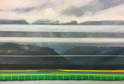 Chris Stoffel Overvoorde painting, Fraser Valley, for sale from Eyekons Gallery