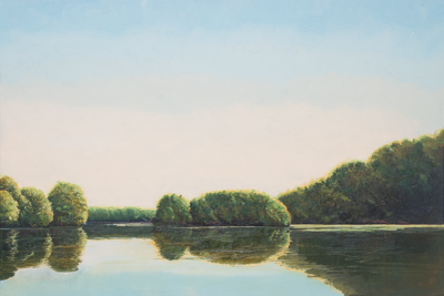 Chris Stoffel Overvoorde painting, Grand River Island, for sale from Eyekons Gallery