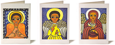 Laura James Guardian Angel Greeting Cards.