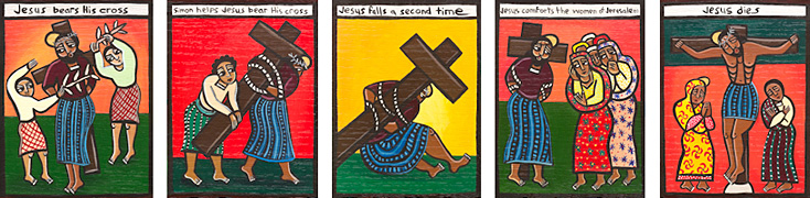 Laura James Stations of the Cross paintings