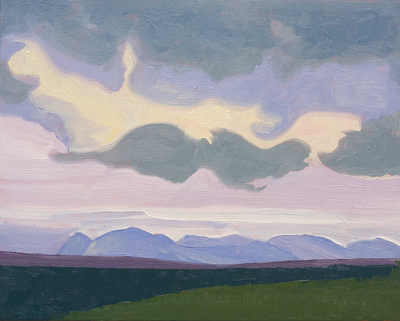 Chris Stoffel Overvoorde painting, Mountain View, Alberta, for sale from Eyekons Gallery