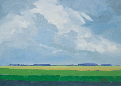 Chris Stoffel Overvoorde painting, Opening Sky, for sale from Eyekons Gallery