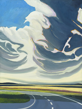 Alberta Clouds, painting by Chris Stoffel Overvoorde for sale from Eyekons Gallery
