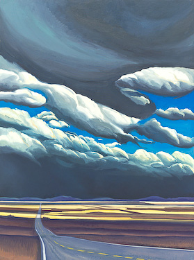 Alberta Field, painting by Chris Stoffel Overvoorde for sale from Eyekons Gallery