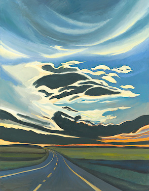 Alberta Late Night, painting by Chris Stoffel Overvoorde for sale from Eyekons Gallery