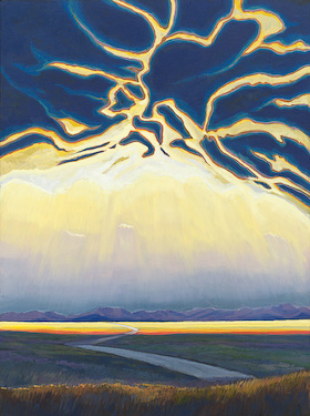 Alberta Light, painting by Chris Stoffel Overvoorde for sale from Eyekons Gallery