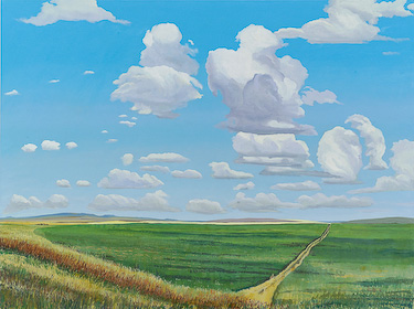 Prairie Near Hillspring, Alberta, painting by Chris Stoffel Overvoorde for sale from Eyekons Gallery