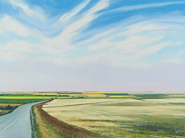 Prairie Near Margarth, Alberta, painting by Chris Stoffel Overvoorde for sale from Eyekons Gallery