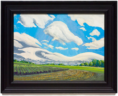 Clouds and Fields, painting by Chris Stoffel Overvoorde for sale from Eyekons Gallery