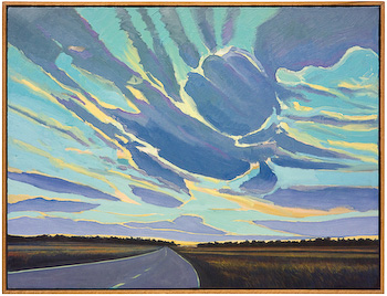 Wild Western Sky, painting by Chris Stoffel Overvoorde for sale from Eyekons Gallery