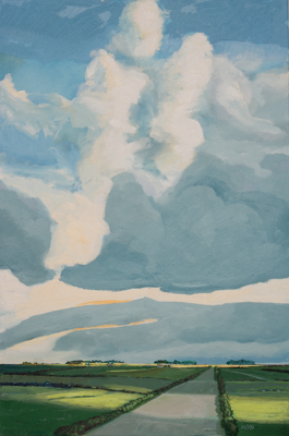 Chris Stoffel Overvoorde painting, Tall Clouds, Alberta for sale from Eyekons Gallery