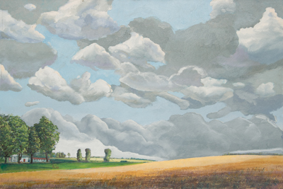 Chris Stoffel Overvoorde painting, The Hill, Michigan for sale from Eyekons Gallery