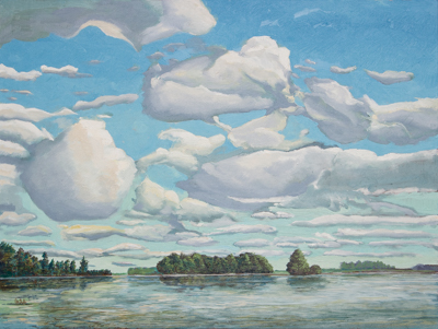 Chris Stoffel Overvoorde painting, The Lake, for sale from Eyekons Gallery