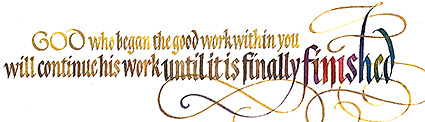 Philippians 1, by Timothy R. Botts, Biblical Scripture in Calligraphy