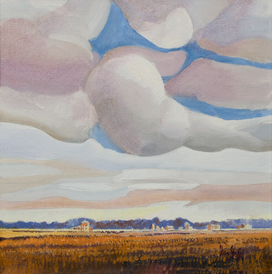 Chris Stoffel Overvoorde painting, Wild Clouds, for sale from Eyekons Gallery