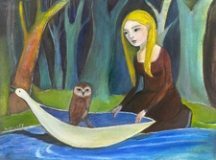 Ann Willey, The Visitor pastel, painting, link to Artist Home Page