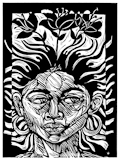 Steve Prince, Fertile Mind, Woodcut/Linocut, link to Artist Home Page