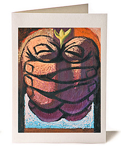 Art 2 Life Prayer Giclee Greeting Card by Wayne Forte