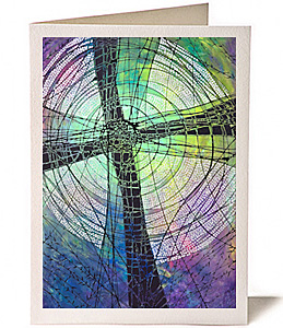 Cross 5 - Lenten Cross, Greeting Card by Lisa Schulist