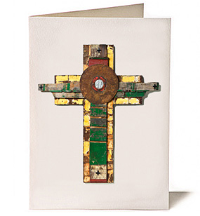 Six Equals One Cross, Giclee Greeting Card by James Quentin Young