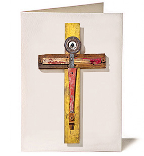 Brass Cross, Giclee Greeting Card by James Quentin Young