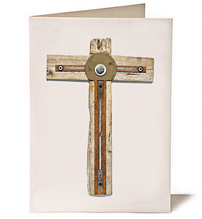 Cross of the Open Door, Giclee Greeting Card by James Quentin Young