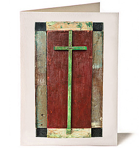 Four Square Cross, Giclee Greeting Card by James Quentin Young