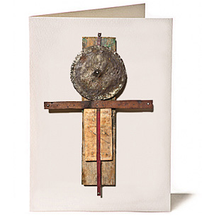 Time Erased Cross, Giclee Greeting Card by James Quentin Young
