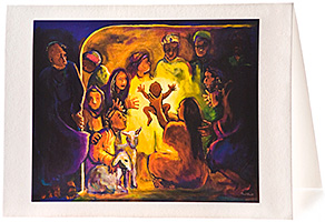 Nativity, Giclee Christmas Card by Carol Aust