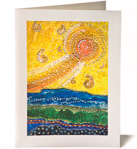 Bethlehems Star, Giclee Christmas Card by James Fissel
