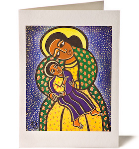 Madonna and Child 1, Giclee Christmas Card by Laura James