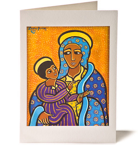 Madonna and Child 2, Giclee Christmas Card by Laura James