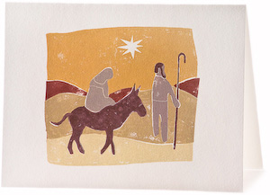 Mary & Joseph, Giclee Christmas Card by Scott Laumann